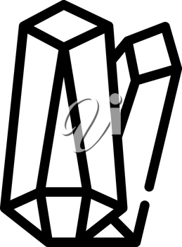 crystals magical stones line icon vector. crystals magical stones sign. isolated contour symbol black illustration