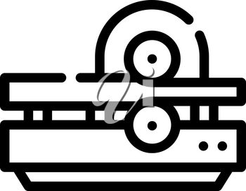 metal rolling line icon vector. metal rolling sign. isolated contour symbol black illustration