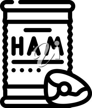 ham canned food line icon vector. ham canned food sign. isolated contour symbol black illustration