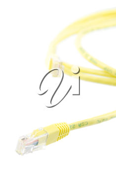 Royalty Free Photo of a Yellow RJ-45 Ethernet Cable