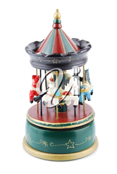 Royalty Free Photo of a Wooden Carousel Toy