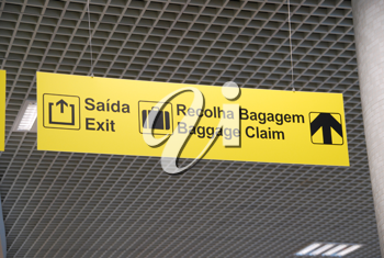Royalty Free Photo of a Signs at an Airport