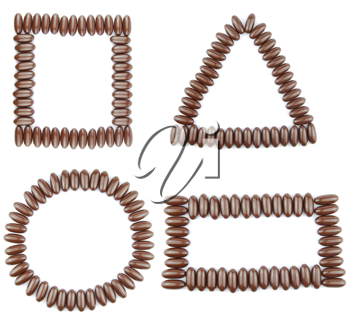 Royalty Free Photo of Chocolate Geometric Shapes