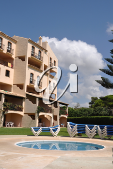Royalty Free Photo of a Resort in Marbella, Spain