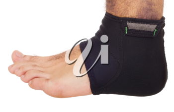 Royalty Free Photo of a Man Wearing an Ankle Brace
