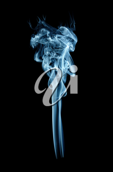 Royalty Free Photo of Torch Shaped Smoke on Black