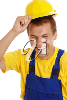 Royalty Free Photo of a Man With a Hardhat