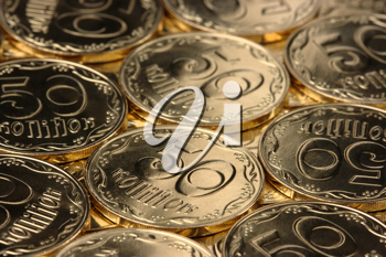 Royalty Free Photo of a Background of Coins