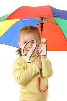 Royalty Free Photo of a Girl With an Umbrella