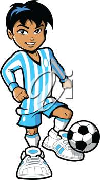 Royalty Free Clipart Image of a Soccer Plaer