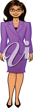 Royalty Free Clipart Image of a Woman in a Business Suit