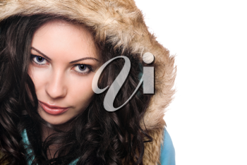 Royalty Free Photo of a Girl Wearing a Hood