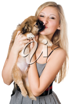 Royalty Free Photo of a Woman and Dog