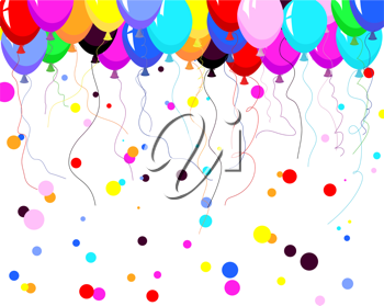 Royalty Free Clipart Image of a Balloon Background