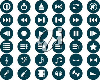 Royalty Free Clipart Image of Music Icons