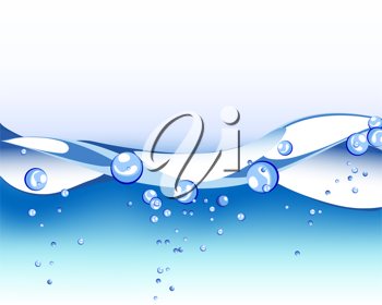 Royalty Free Clipart Image of an Abstract Water Background
