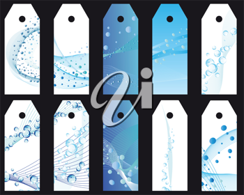 Royalty Free Clipart Image of Water Themed Bookmarks