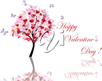 Abstract Valentine days background for design use. Vector illustration.