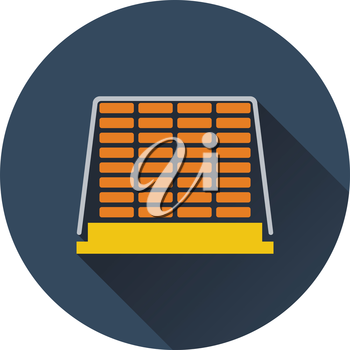 Icon of construction pallet . Flat design. Vector illustration.