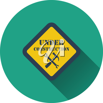 Icon of Under construction. Flat design. Vector illustration.