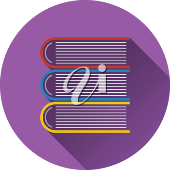 Flat design icon of Stack of books in ui colors. Flat design. Vector illustration.