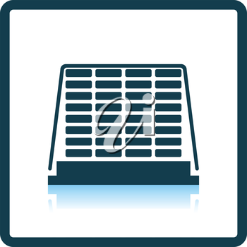 Icon of construction pallet . Shadow reflection design. Vector illustration.