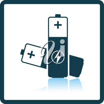 Electric battery icon. Shadow reflection design. Vector illustration.