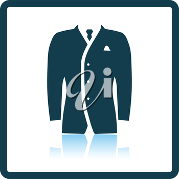 Mail suit icon. Shadow reflection design. Vector illustration.
