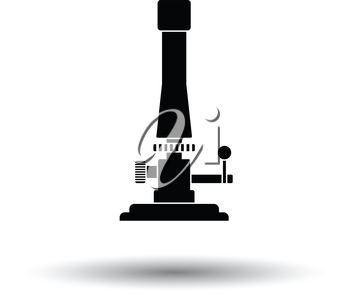 Icon of chemistry burner. White background with shadow design. Vector illustration.