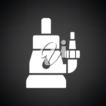 Submersible water pump icon. Black background with white. Vector illustration.