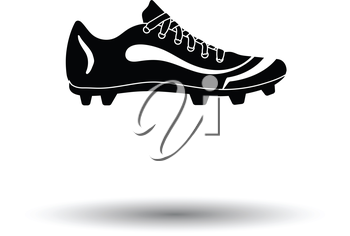 American football boot icon. White background with shadow design. Vector illustration.