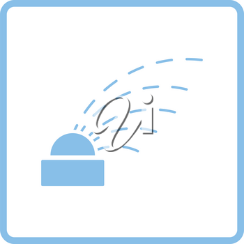 Automatic watering icon. Blue frame design. Vector illustration.
