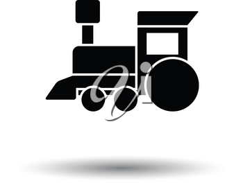 Train toy ico. White background with shadow design. Vector illustration.