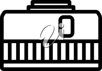Icon Of Photo Camera 50 Mm Lens. Bold outline design with editable stroke width. Vector Illustration.