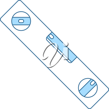 Icon Of Construction Level. Thin Line With Blue Fill Design. Vector Illustration.