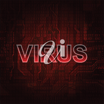 Royalty Free Clipart Image of a Virus Background