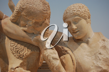 Royalty Free Photo of Two Figure Sculptures