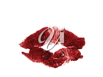 Royalty Free Clipart Image of a Lipstick Print