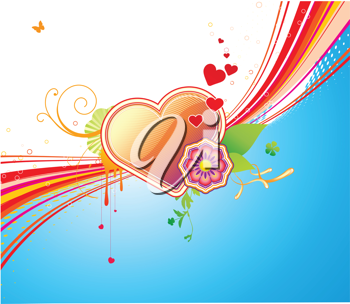 Royalty Free Clipart Image of a Heart Shaped Background