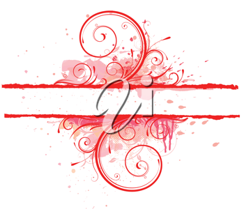 Royalty Free Clipart Image of a Red Floral Background