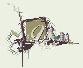 Royalty Free Clipart Image of an Urban Background