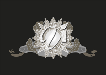 Royalty Free Clipart Image of a Star Banner