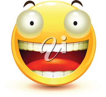 Royalty Free Clipart Image of a Smiley Face