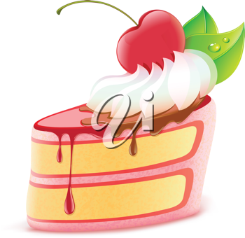 Royalty Free Clipart Image of a Piece of Cake