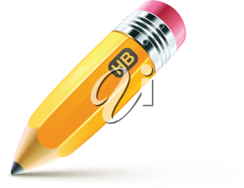 Royalty Free Clipart Image of a Pencil