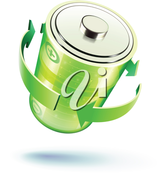 Royalty Free Clipart Image of a Battery Icon