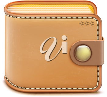 Royalty Free Clipart Image of a Wallet