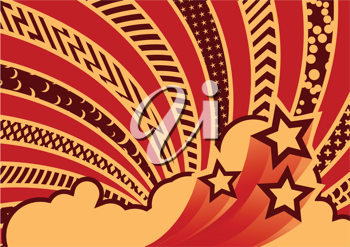 Royalty Free Clipart Image of a Funky Background