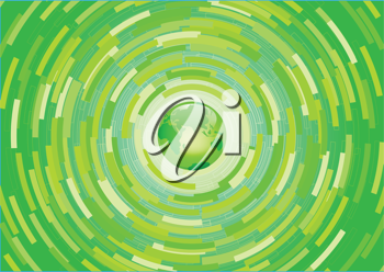Royalty Free Clipart Image of an Abstract Green Background