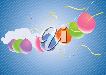Royalty Free Clipart Image of Balloons